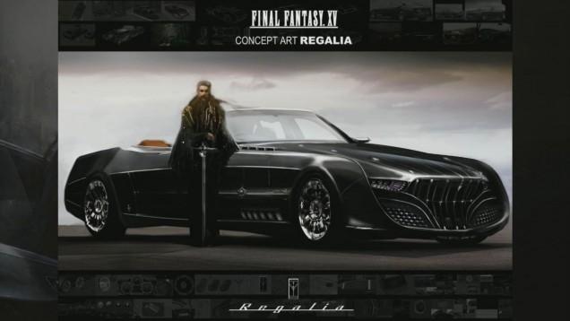 Regalia, el coche de Final Fantasy XV
