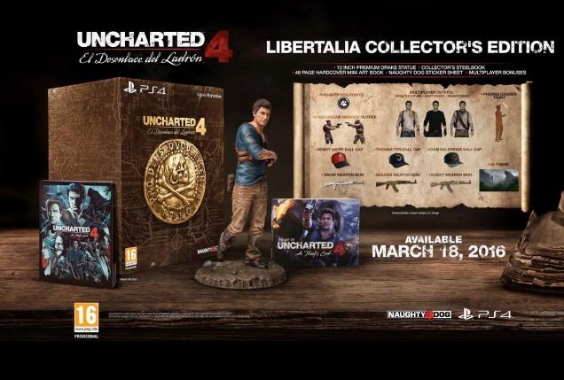 Uncharted 4 edicion coleccionista Libertalia