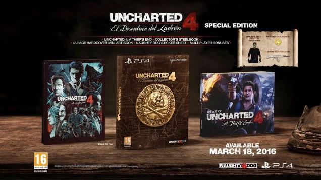 Uncharted 4 edicion especial