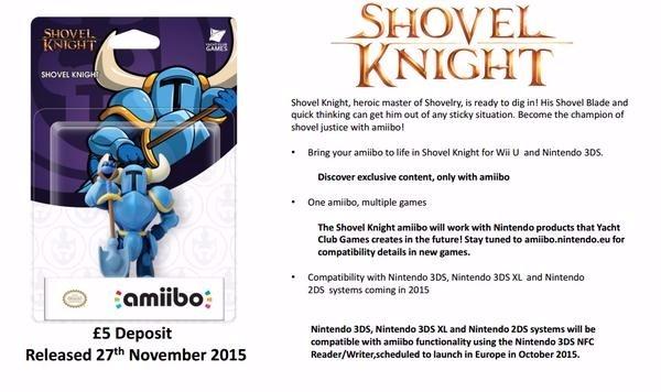 Anuncio del amiibo de Shovel Knight