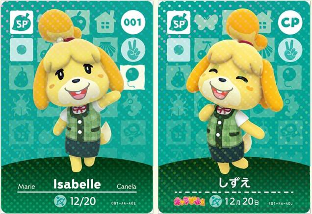 A la izquierda la tarjeta especial de Canela. A la derecha, la exclusiva de una revista japonesa