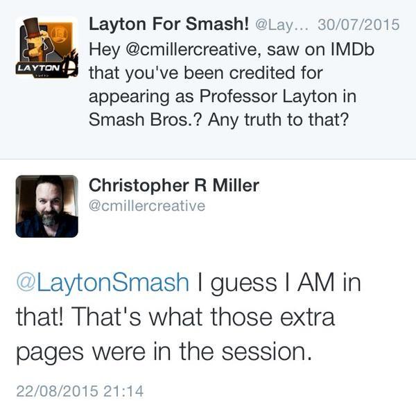 tweet layton smash bros
