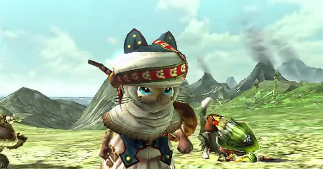 Monster-Hunter-X-Felyne-Playable