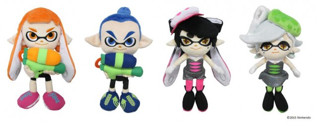 Splatoon peluches mar tina