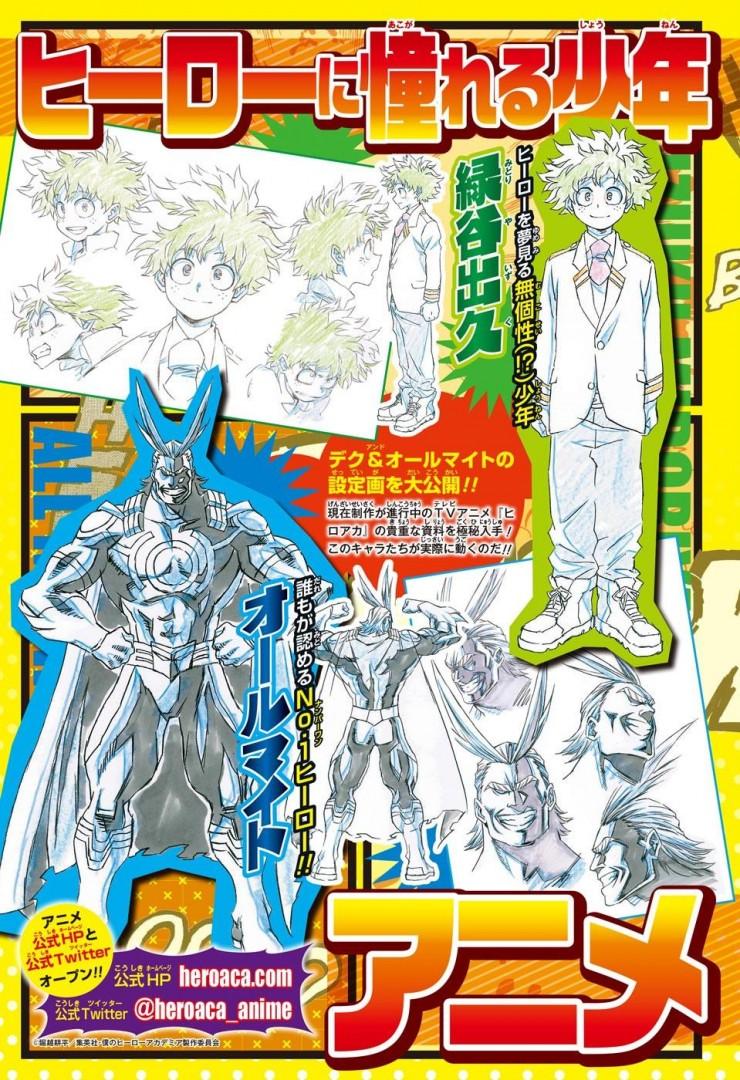 My Hero Academia anime designs