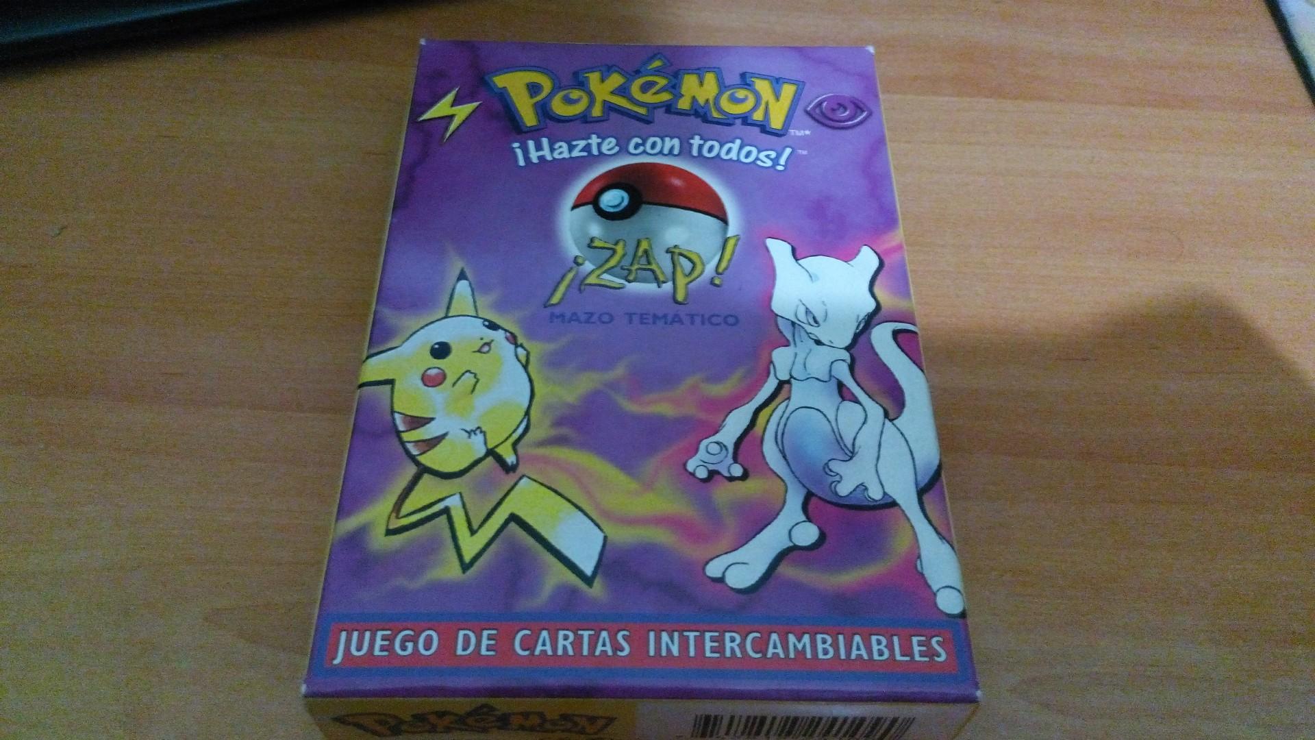 Pokémon cartas mazo temático zap
