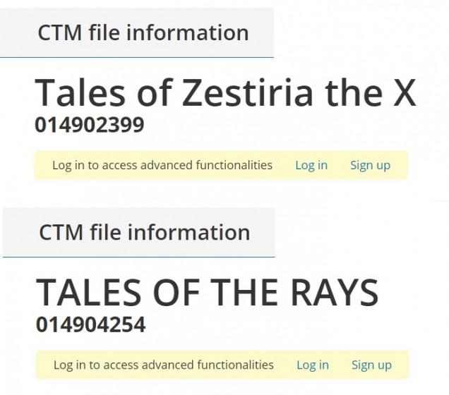 Tales of Zestiria X Rays trademark