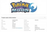 Pokemon Moon trademark