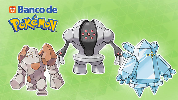 Regirock Registeel Regice Banco Pokemon x Y ROZA