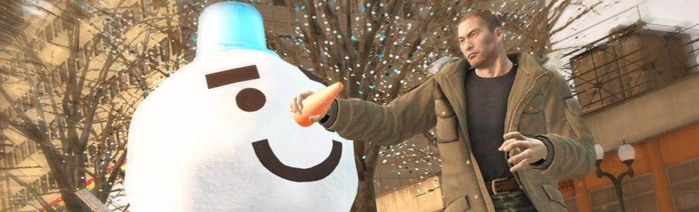 Yakuza 5 snowman