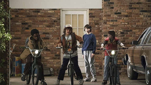 Stranger Things - niños en bicicleta