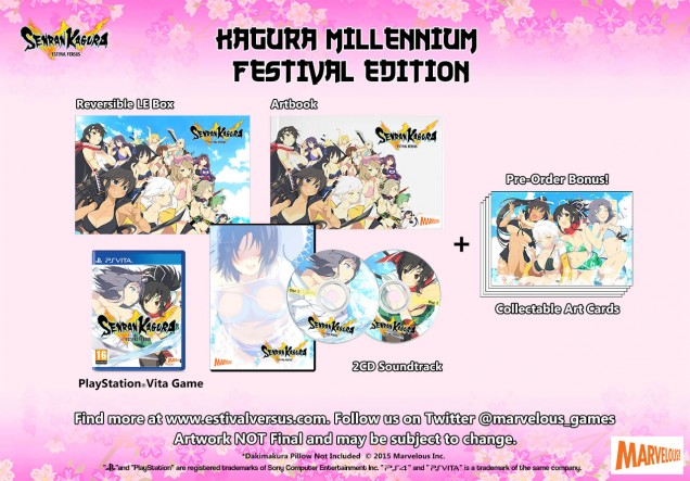 Senran Kagura Estival Versus Kagura Millennium Festival Edition Vita