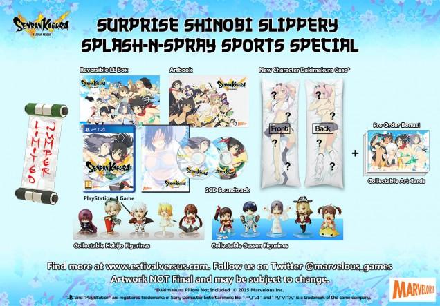 Senran Kagura Estival Versus Surprise Shinobi Slippery Splash n Spray Sports Special Edition PS4