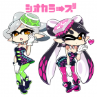 Fanart de las Calamarciñas de Splatoon
