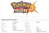 Pokemon Sun trademark